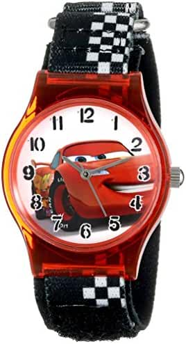 Disney Kids' W001201 Cars Lightning McQueen Plastic Watch with Black Strap